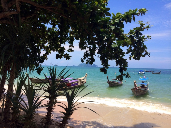 Ao Nang Beach with boats