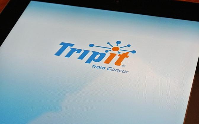 TripIt app on iPad