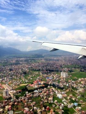 Kathmandu from plane