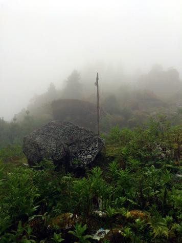 Mani stones in the mist