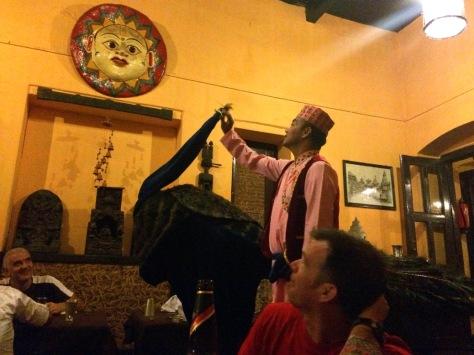 Peacock dancer at welcome dinner Kathmandu