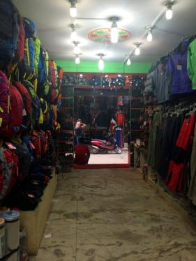 Trekking shop in Thamel Kathmandu